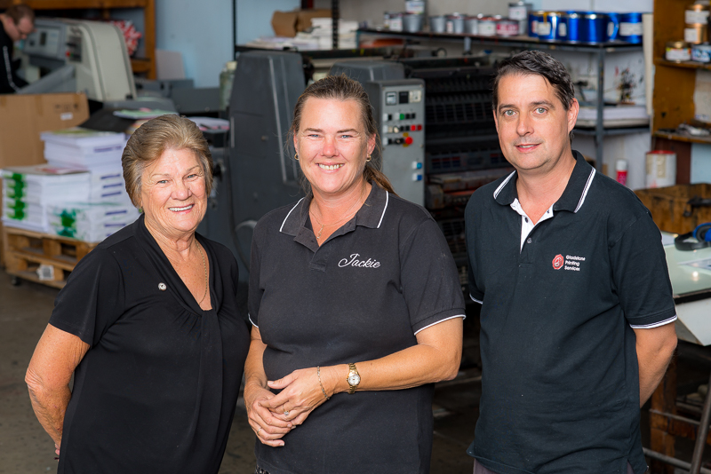 Gladstone Printing Services Team