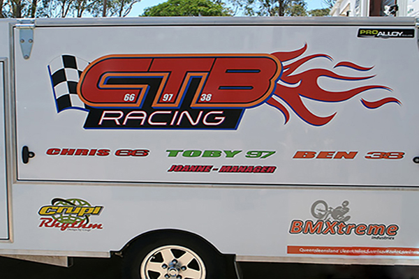 CTB Racing car decals
