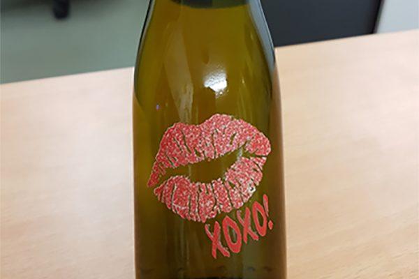 Valentine Day Wine Bottle