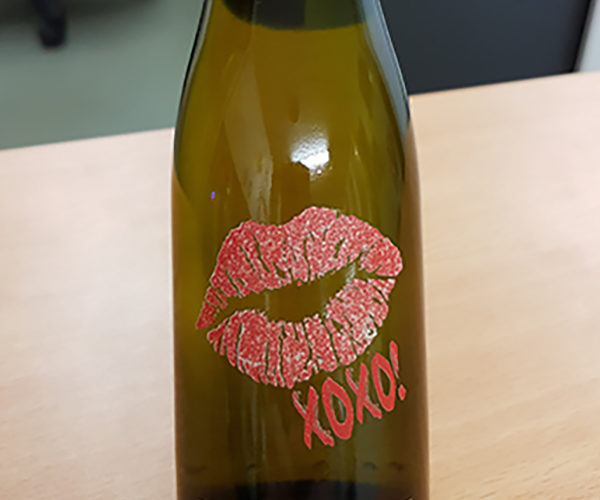 Valentine Day Wine Bottle